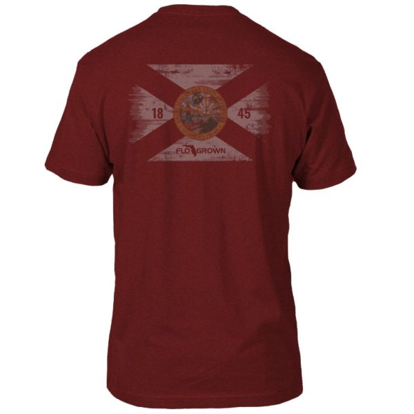 FloGrown Washed Flag Tee (red-back)
