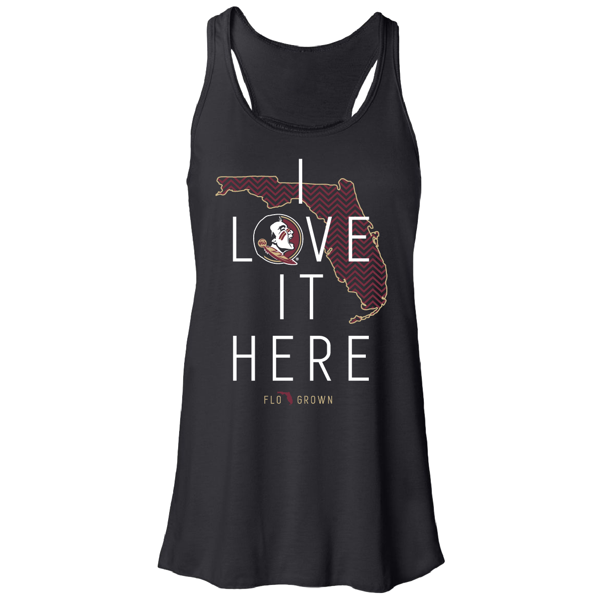 Florida State Seminoles I love it here Tank - Front